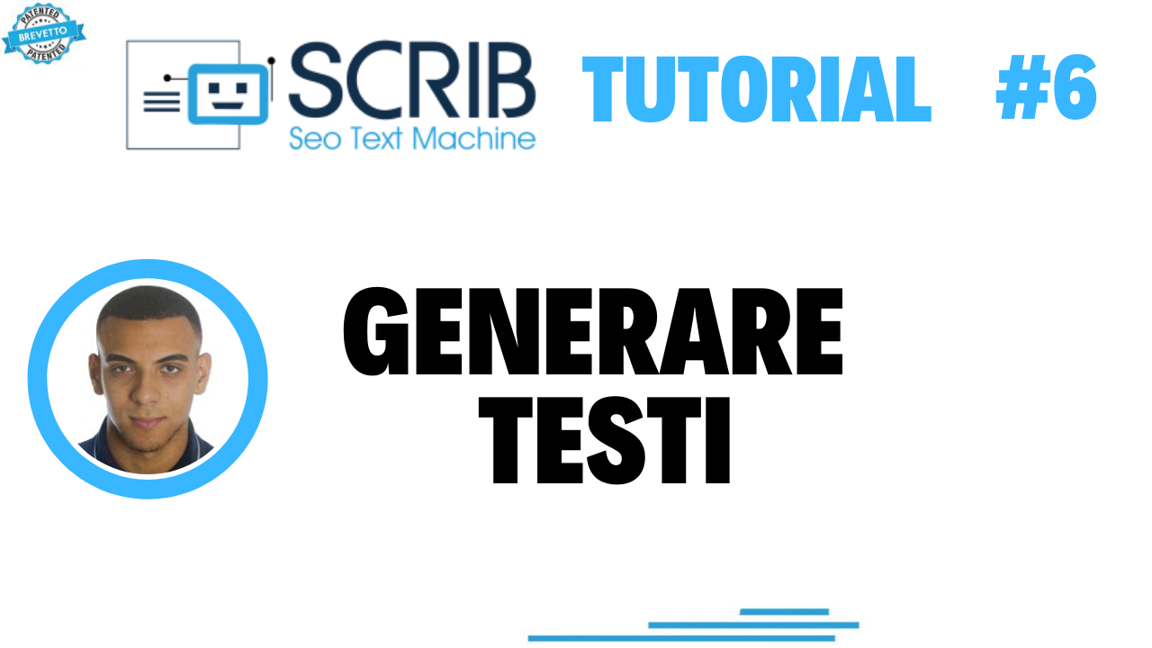 Video tutorial - generiamo testi con SCRIB